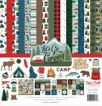 echo park lets go camping 12x12 inch collection ki