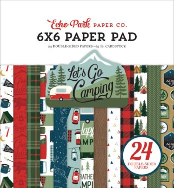 echo park lets go camping 6x6 inch paper pad lgc24
