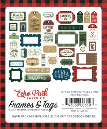 echo park lets go camping frames tags lgc246025 2