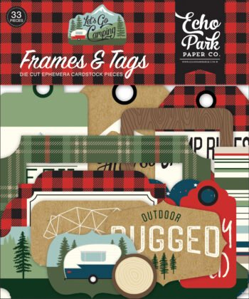 echo park lets go camping frames tags lgc246025
