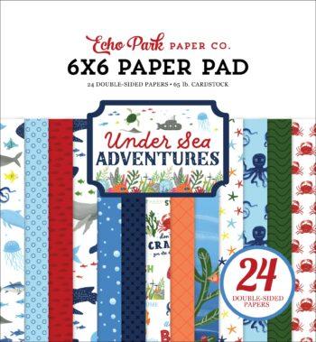 echo park under sea adventures 6x6 inch paper pad