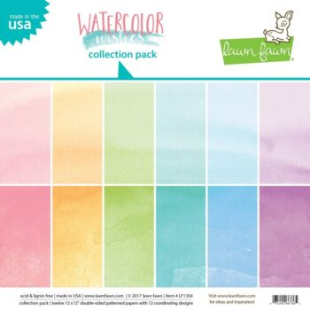 lawn fawn watercolor wishes 12x12 inch collection