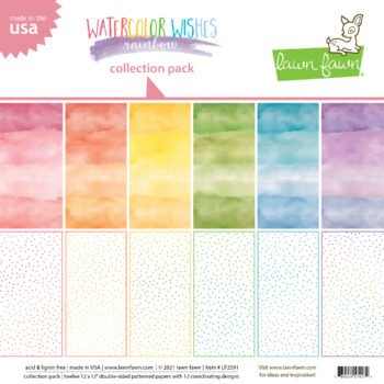 lf2591 lawn fawn watercolor wishes rainbow collection pack