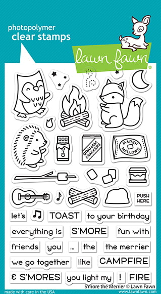 lf2593 lawn fawn clear stamps smore the merrier web