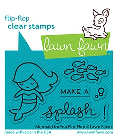lf2595 lawn fawn clear stamps mermaid for you flip flop web