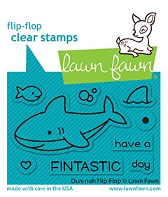 lf2597 lawn fawn clear stamps duh nuh flip flop web