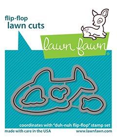 lf2598 lawn fawn coordinating craft dies duh nuh flip flop lawn cuts web