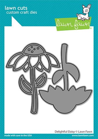 lf2607 lawn fawn creative cuts stand alone dies delightful daisy web