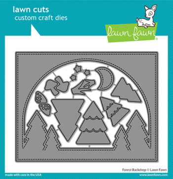 lf2611 lawn fawn creative cuts stand alone dies forest backdrop web