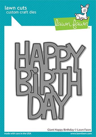 lf2612 lawn fawn creative cuts stand alone dies giant happy birthday web