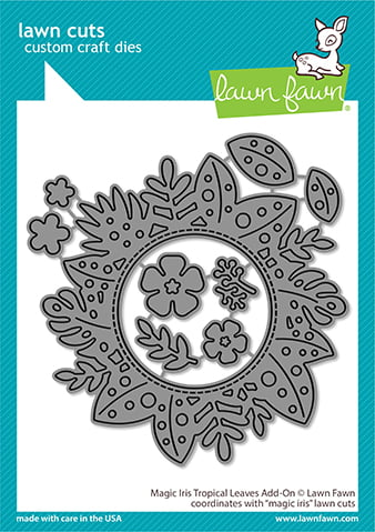 lf2614 lawn fawn creative cuts stand alone dies magic iris tropical leaves add on web