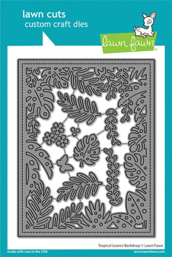 lf2615 lawn fawn creative cuts stand alone dies tropical leaves backdrop web