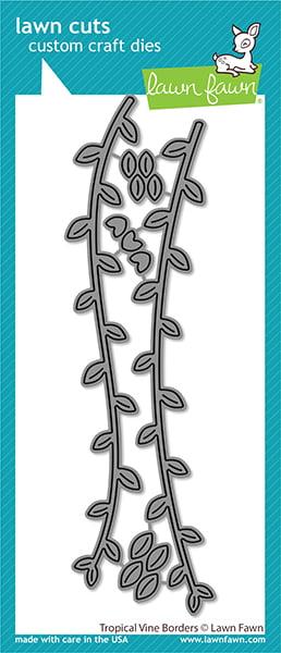 lf2616 lawn fawn creative cuts stand alone dies tropical vine borders web