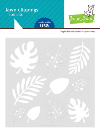 lf2625 lawn fawn tropical leaves stencil web