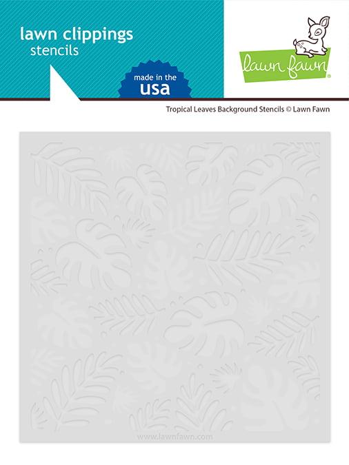 lf2626 lawn fawn tropical leaves background stencils web