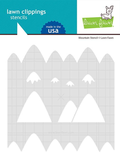 lf2627 lawn fawn mountain stencil web