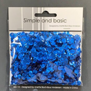 simple and basic blue sequin mix sbs110