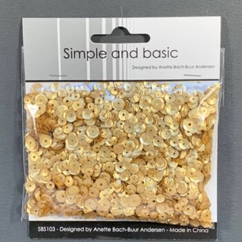 simple and basic gold sequin mix sbs103