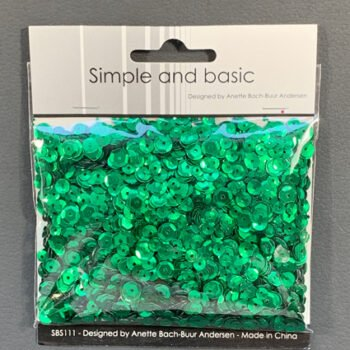 simple and basic green sequin mix sbs111