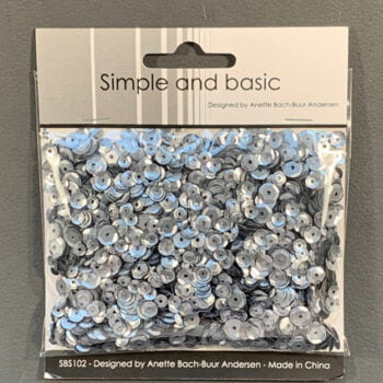 simple and basic gunmetal sequin mix sbs102