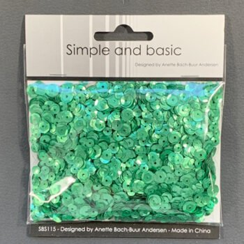 simple and basic pale green sequin mix sbs115