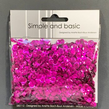 simple and basic pink sequin mix sbs112