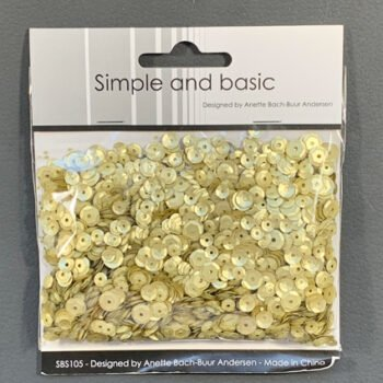 simple and basic platinum sequin mix sbs105