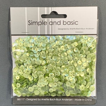 simple and basic spring green sequin mix sbs117