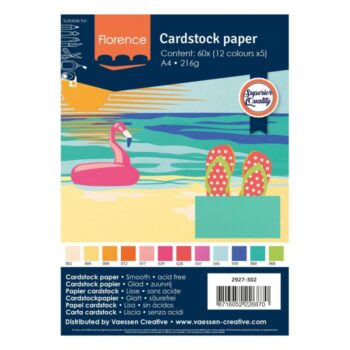 2927 302 Florence Smooth Cardstock Pack Summer A4