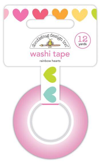 7246 rainbow hearts washi tape