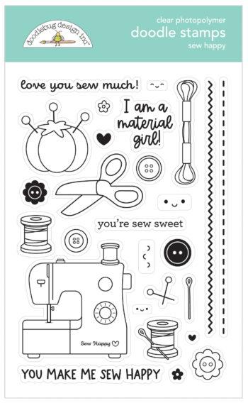 7265 sew happy doodle stamps