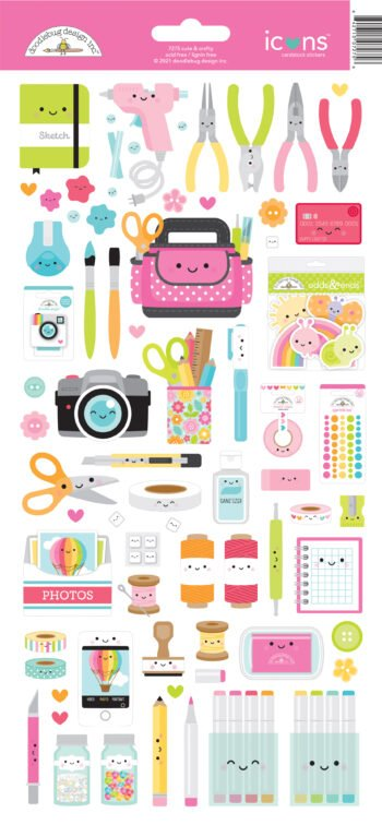 7275 cute crafty icons stickers