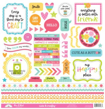 7276 cute crafty this that stickers