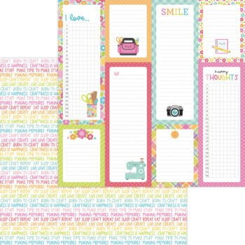 7281 happy thoughts double sided cardstock
