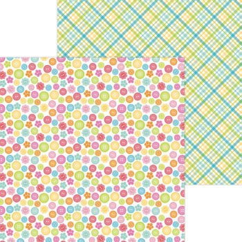 7283 cute as a button double sided cardstock