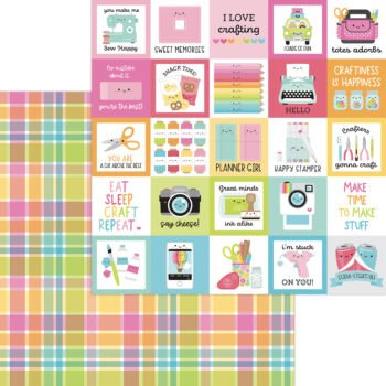 7284 perfectly plaid double sided cardstock