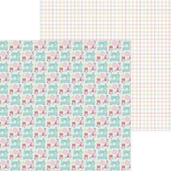 7287 sew cute double sided cardstock
