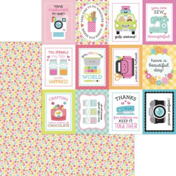 7288 precious posies double sided cardstock