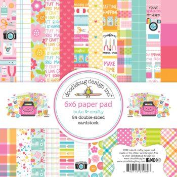 7289 cute crafty 6x6 paper pad
