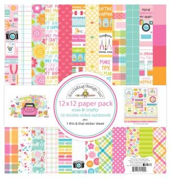 7290 cute crafty 12x12 paper pack