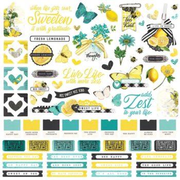 simple stories simple vintage lemon twist cardstoc
