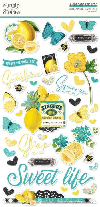 simple stories simple vintage lemon twist chipboar