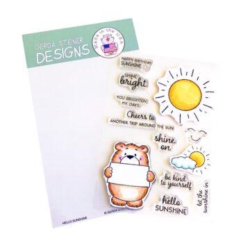 GSD741 hello sunshine stamps by Gerda Steiner
