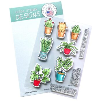 GSD747 Grow Happiness stamps by Gerda Steiner