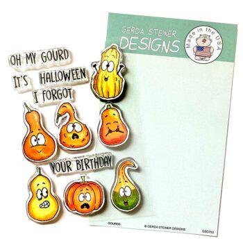 GSD753 gourds stamps by gerda steiner