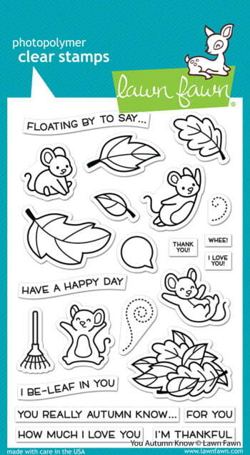 LF2660 Lawn Fawn Clear Stamps You Autumn Know sml