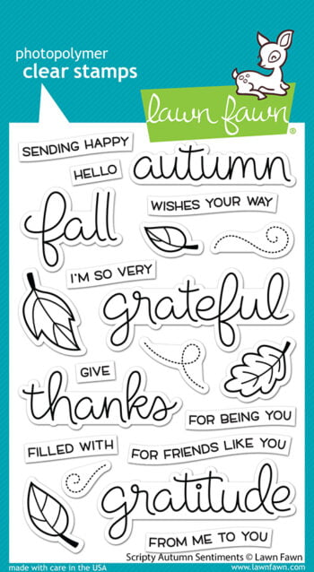 LF2662 Lawn Fawn Clear Stamps Scripty Autumn Sentiments sml