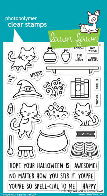LF2664 Lawn Fawn Clear Stamps Purrfectly Wicked sml