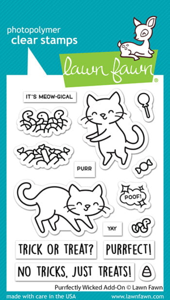 LF2666 Lawn Fawn Clear Stamps Purrfectly Wicked AddOn sml
