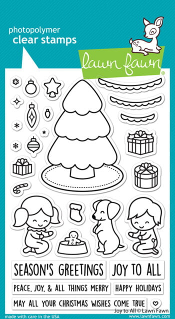 LF2668 Lawn Fawn Clear Stamps Joy To All sml